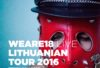Weare18 Lithuania tour 2016 poster