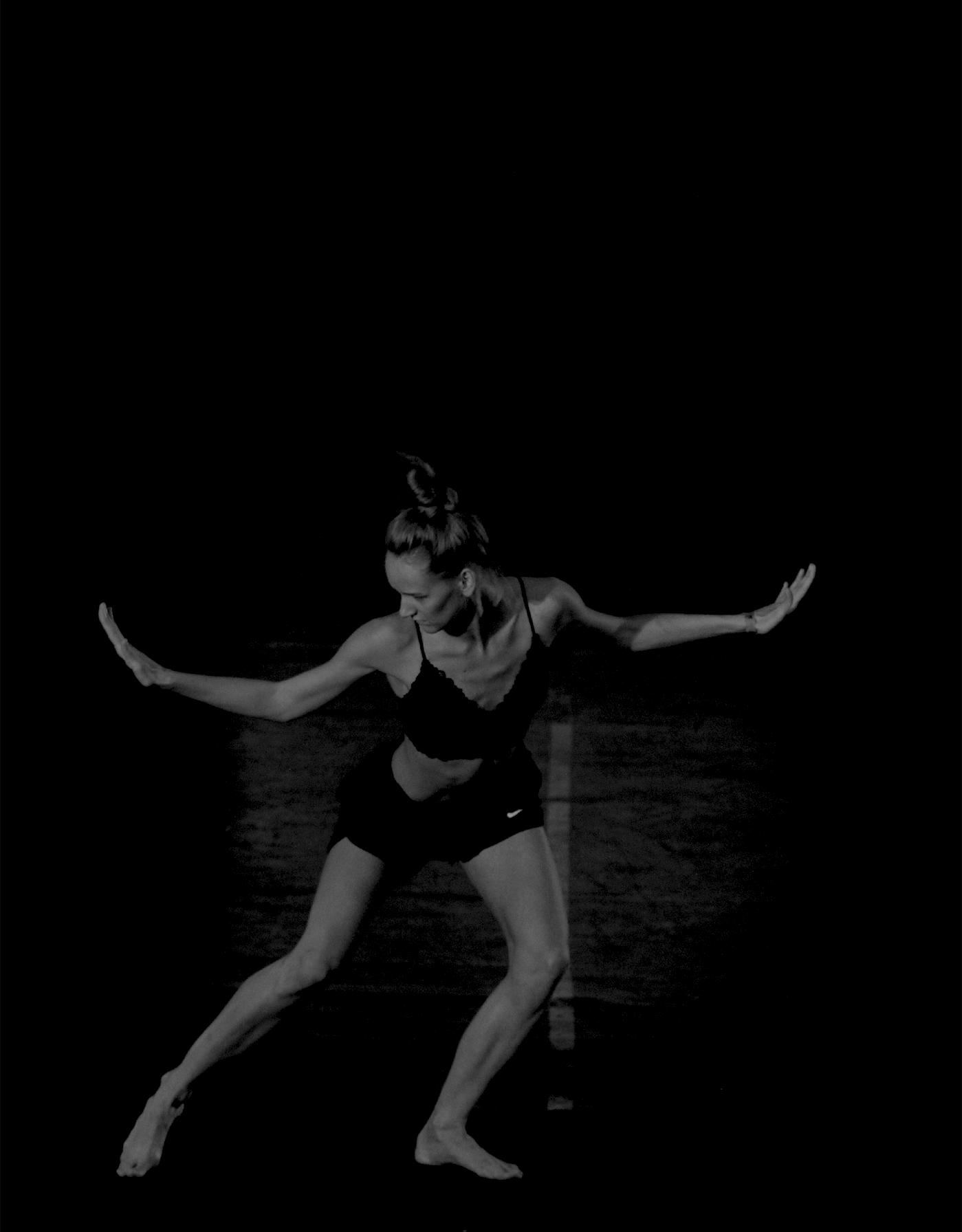 black and white dancer women